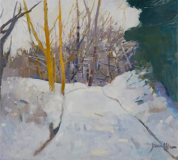 painting of Winter Walk