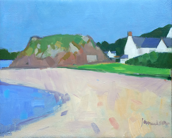 painting of Dunure