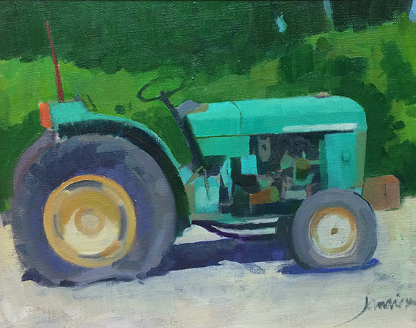 painting of Tractor